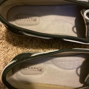 Sperry Top Sider Black and Silver shoes